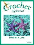 Starfish In Love Crochet Afghan Kit