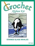 Stained Glass Whales Crochet Afghan Kit