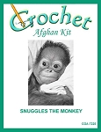 Snuggles The Monkey Crochet Afghan Kit
