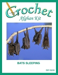 Bats Sleeping Crochet Afghan Kit