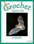Flying Bat Crochet Afghan Kit
