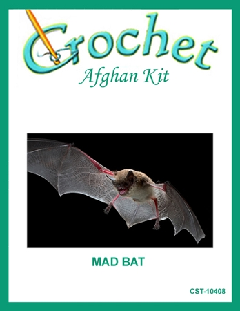 Mad Bat Crochet Afghan Kit
