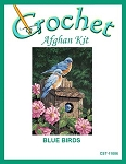 Blue Birds Crochet Afghan Kit
