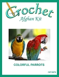 Colorful Parrots Crochet Afghan Kit