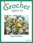 Gold Finches Crochet Afghan Kit