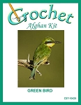 Green Bird Crochet Afghan Kit
