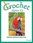 Greem Winged Macaw Crochet Afghan Kit