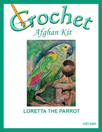 Loretta The Parrot Crochet Afghan Kit