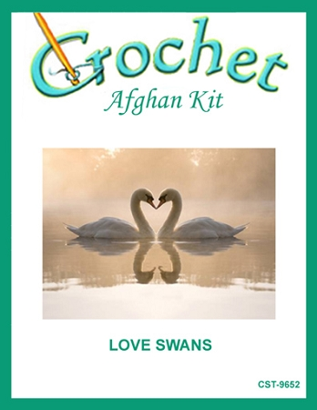 Love Swans Crochet Afghan Kit