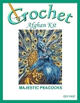 Majestic Peacocks Crochet Afghan Kit