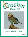 Sweet Colorful Bird Crochet Afghan Kit