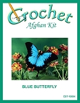 Blue Butterfly Crochet Afghan Kit