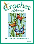 Butterflies And Bamboo Crochet Afghan Kit