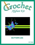 Butterflies Crochet Afghan Kit