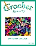Butterfly Collage Crochet Afghan Kit