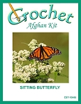Sitting Butterfly Crochet Afghan Kit