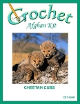 Cheetah Cubs Crochet Afghan Kit
