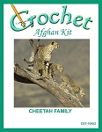 Cheetah Family Crochet Afghan Kit