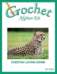 Cheetah Laying Down Crochet Afghan Kit
