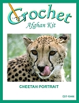 Cheetah Portrait Crochet Afghan Kit