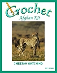 Cheetah Watching Crochet Afghan Kit