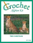 Two Cheetahs Crochet Afghan Kit