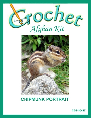 Chipmunk Portrait Crochet Afghan Kit