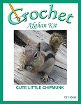 Cute Little Chipmunk Crochet Afghan Kit