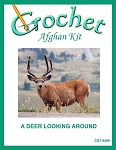 A Deer Looking Around Crochet Afghan Kit