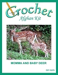 Momma And Baby Deer Crochet Afghan Kit