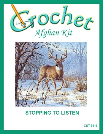 Stopping To Listen Crochet Afghan Kit