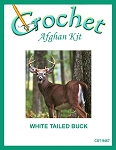 White Tailed Buck Crochet Afghan Kit