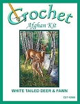 White Tailed Deer & Fawn Crochet Afghan Kit