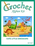 Cute Little Dinosaurs Crochet Afghan Kit
