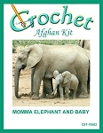 Momma Elephant And Baby Crochet Afghan Kit