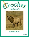 Elk Portrait Crochet Afghan Kit