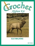Elk Walking Crochet Afghan Kit