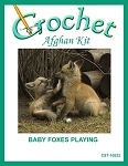 Baby Foxes Playing Crochet Afghan Kit