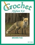 Brown Fox Crochet Afghan Kit