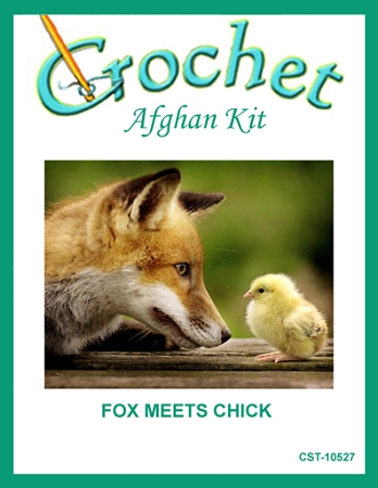 Fox Meets Chick Crochet Afghan Kit