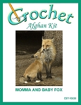Momma And Baby Fox Crochet Afghan Kit