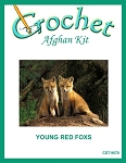 Young Red Foxes Crochet Afghan Kit