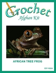 African Tree Frog Crochet Afghan Kit