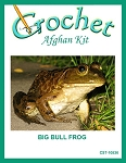 Big Bull Frog Crochet Afghan Kit