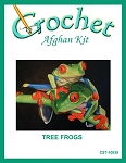 Tree Frogs Crochet Afghan Kit