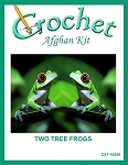 Two Tree Frogs Crochet Afghan Kit