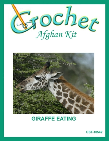 Giraffe Eating Crochet Afghan Kit