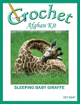 Sleeping Baby Girrafe Crochet Afghan Kit
