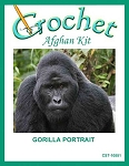 Gorilla Portrait Crochet Afghan Kit