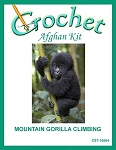 Mountain Gorilla Climbing Crochet Afghan Kit